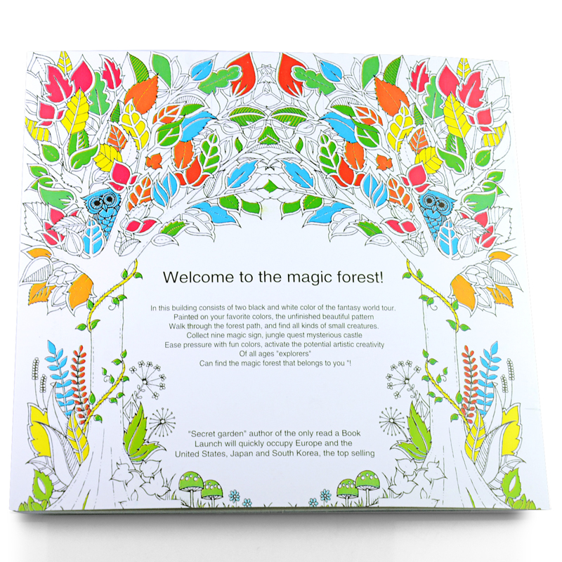 24 Pages Enchanted Forest English Edition Coloring Books For Adult Children Girls Antistress Art Drawing Painting Secret Garden In From Office