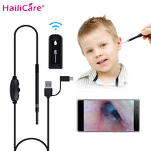 3-in-1 IP65 กันน้ำ WiFi Endoscope 1.3MP 720P HD ภาพ Ear ear Wax Remover Otoscope หูทำความสะอาด Oral Health Care Tool(China)