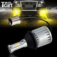 Tcart 2pcs BAY15D 1157 P21 5W LED Bulbs Car Turn Signal Warning Lights Auto LED Lamp