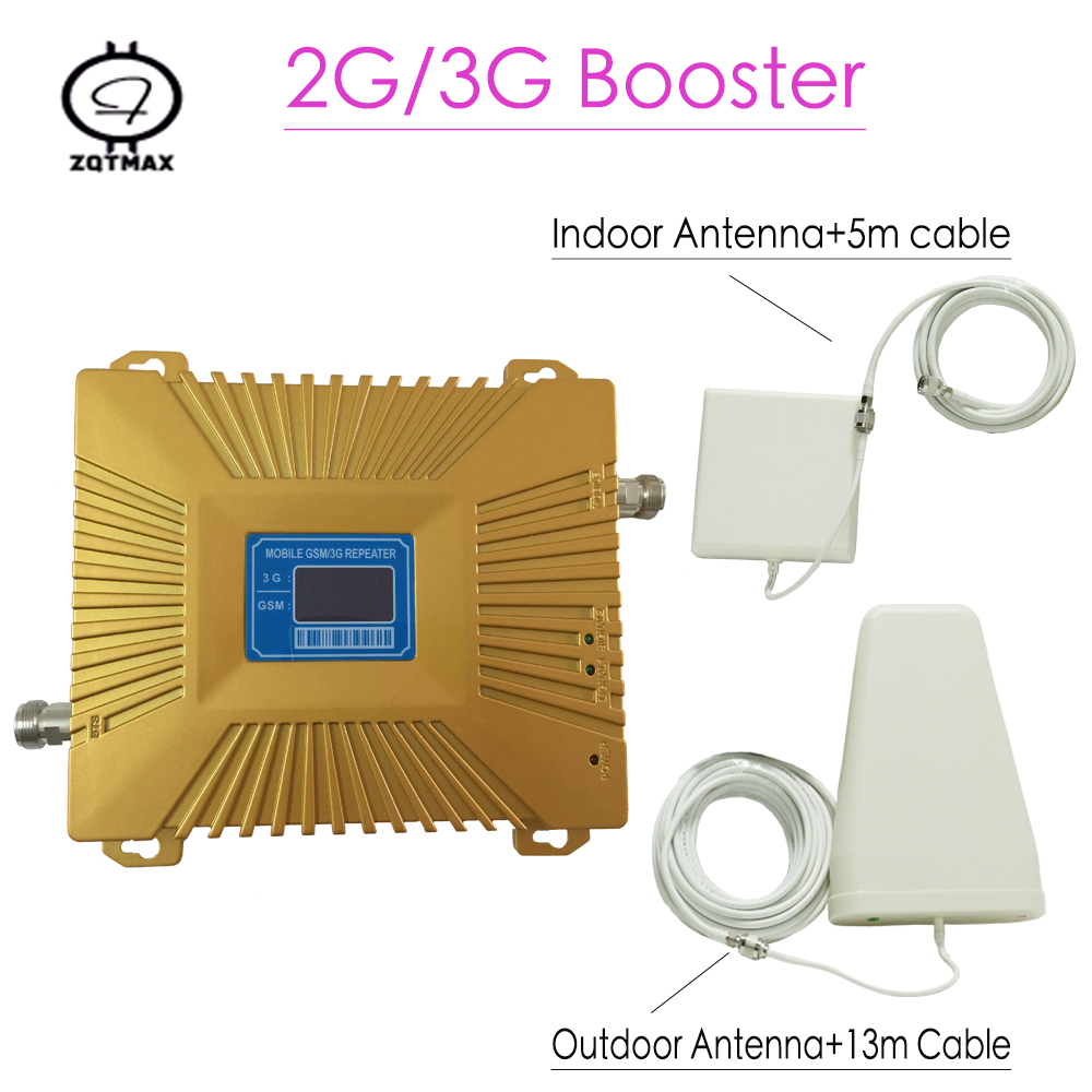 Cellular Signal Booster GSM Repeater 900 3G UMTS 2100 Dual Band Cellphone Amplifier 2g 3g 900/2100Mhz 2G 3G LTE Repeater Booster
