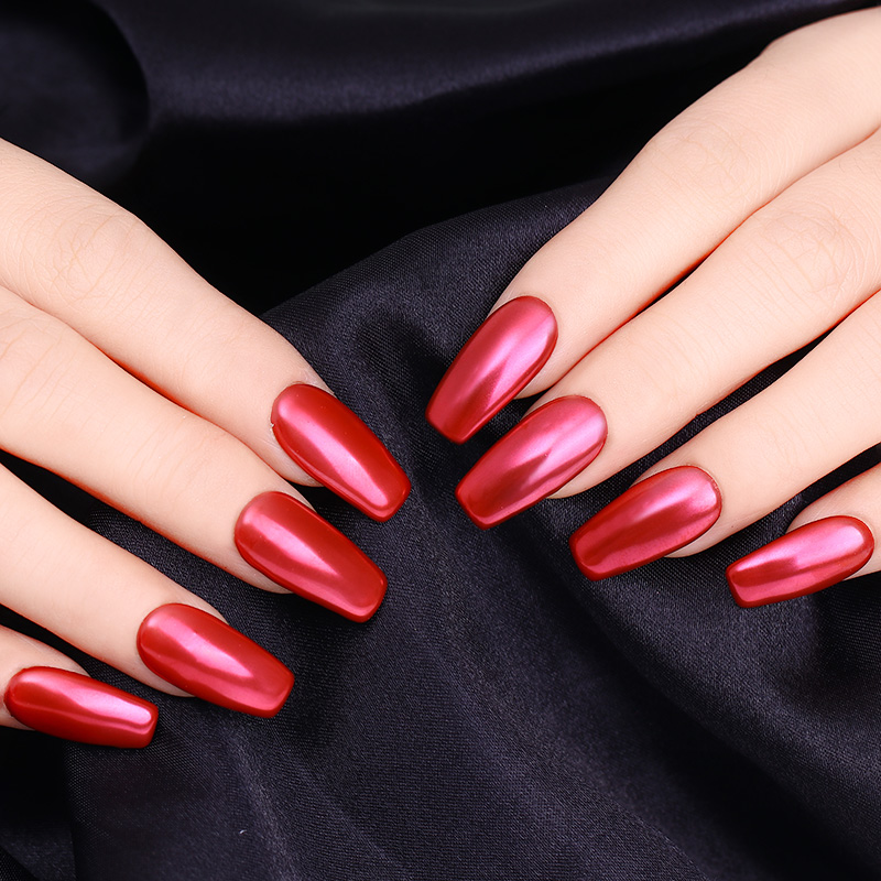 nicole diary mirror red nail glitter powder nail art dust chrome pigment manicure tips decoration in nail glitter from beauty health on aliexpresscom