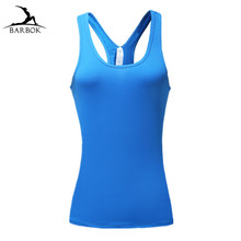 ФОТО barbok sleeveless yoga shirts women gym sportswear tops fitness tight workout clothing running vest breathable jogging wear