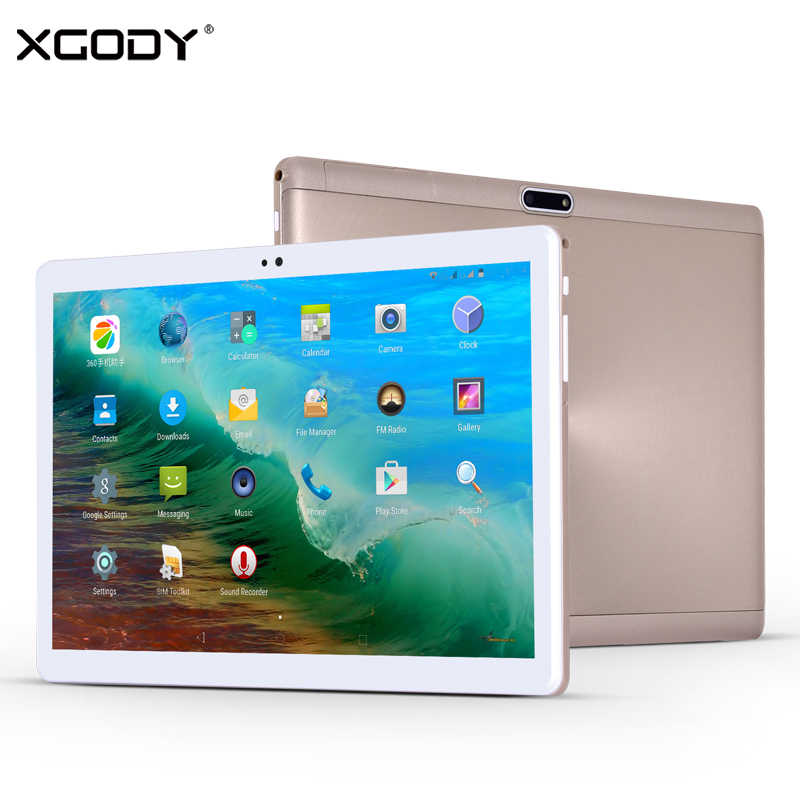 XGODY 10.1 3G Phone Call Tablet PC 10.1 Inch 1280x800 1GB 16GB MTK6580 Quad Core Android 6.0 Tablets OTG WiFi 5MP Camera Phablet