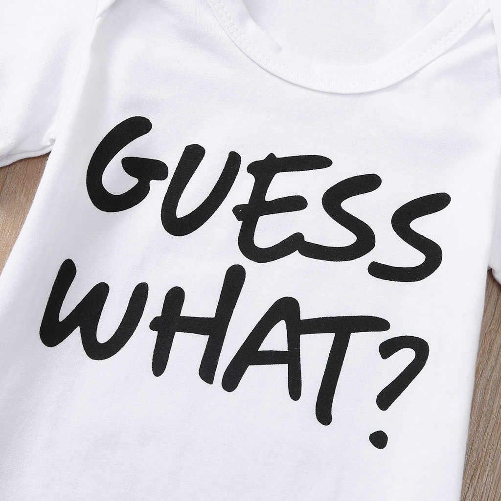 Noworodka dziewczyny chłopcy biały Romper niemowlę maluch z krótkim rękawem list kurczaka body garnitur ubrania stroje одежда для пупсов