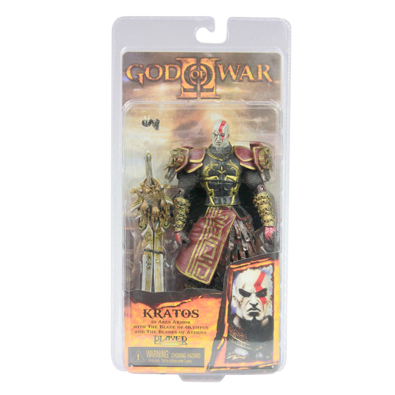 High Quality NECA God of War 2 II Kratos in Ares Armor W Blades 7 PVC Action Figure Toy Doll Chritmas Gift #GOW001 god of war 2 pvc action figure display toy doll kratos with flaming blades