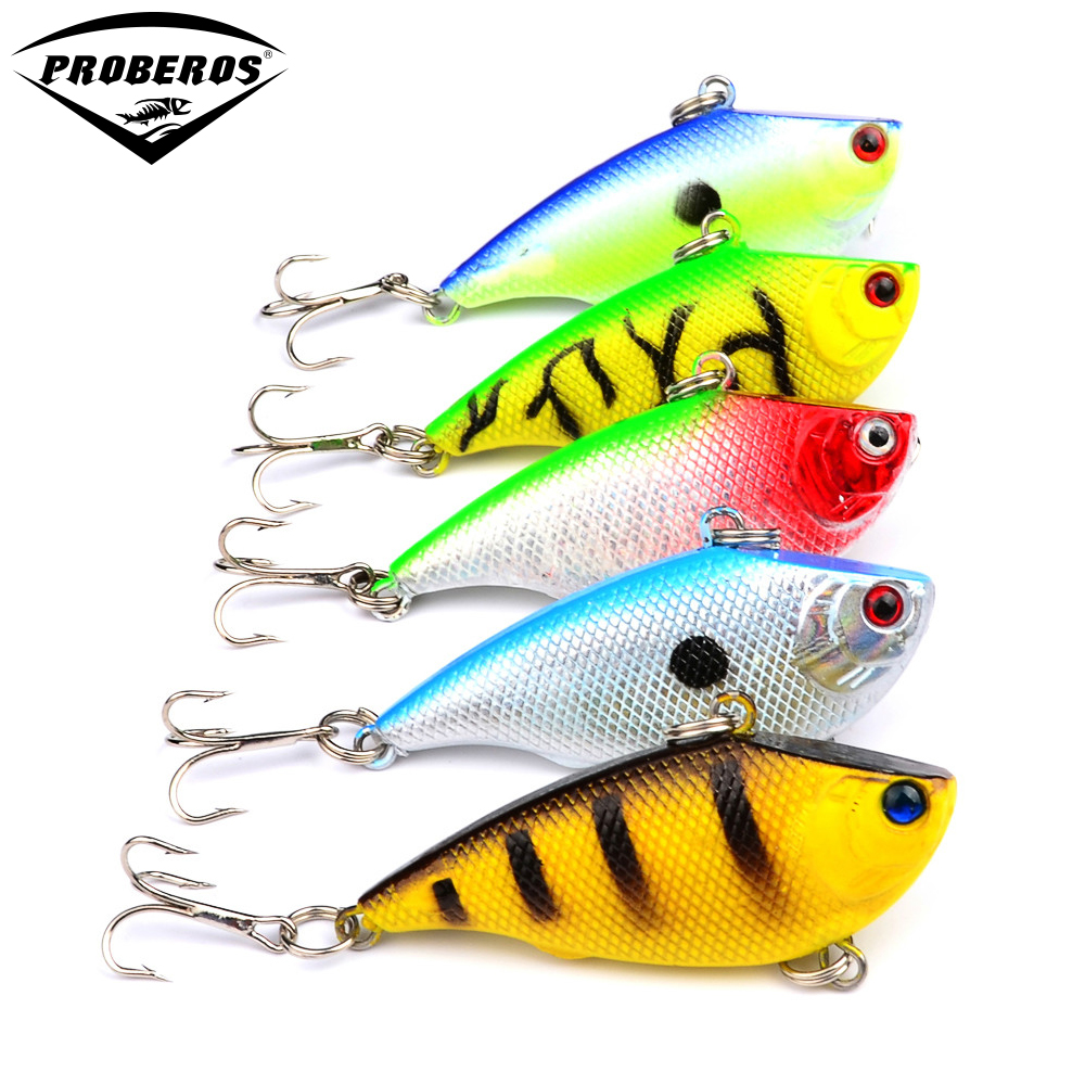 New vib lures 5 5cm 7 5g 5 color popular plastic minnow for New fishing lures