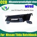 Ccd HD com fio estacionamento câmera de visão traseira para Nissan Tiida Hatchback carro câmera reversa reaview 520TVL Waterproof