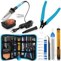 Handskit Soldering Iron Set 8-in-1 Screwdrivers Soldering Iron Set With Soldering Stand Soldering Wire Desolder Pump Weldering