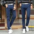 Повседневная хаки черный синий плед брюки мужчины 2017 весной новый приход середине талии прямые брюки мужчины мальчики куртка slim fit большие размеры
