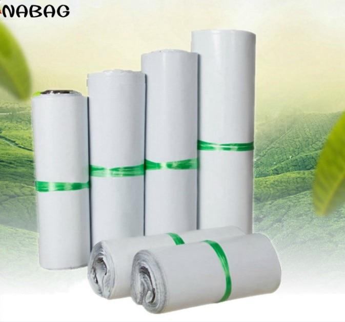 20 шт. белые самоклеящиеся курьерские пакеты, пакеты для хранения, пластиковые поли-конверты, почтовые отправки, почтовые пакеты