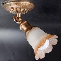 Antique Vintage E14 DOPROWADZIŁY reflektory kinkiety oświetlenie lampy Rustykalne odcień szkła na ścianie lub suficie domu spot światła obrazu