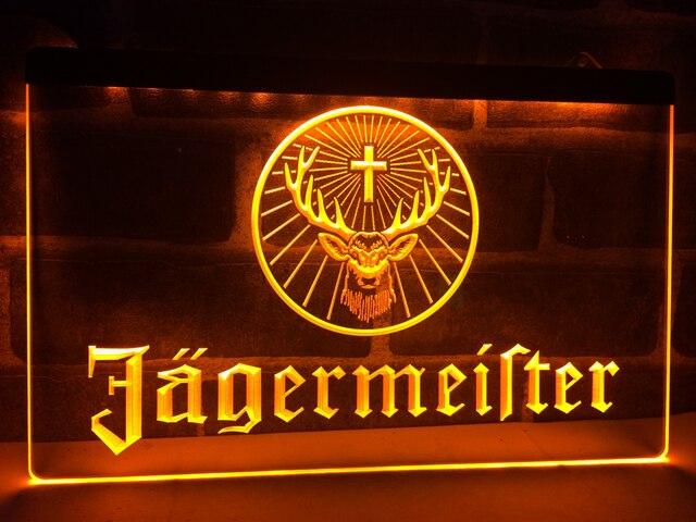 Custom Jagermeister Deer head LED Neon Sign