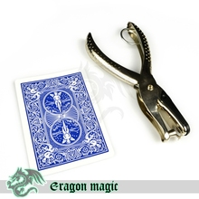 Hole Punch Bicycle Card Free Shipping Magic Tricks Magia Trick Toy Close up Magie