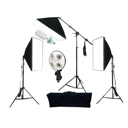2017 New Hot Sale ,High Quality Studio set studio softbox kit photography softbox kit PK-SB03 light stand boom bar etc lightdow photography studio 45w softbox light stand kit
