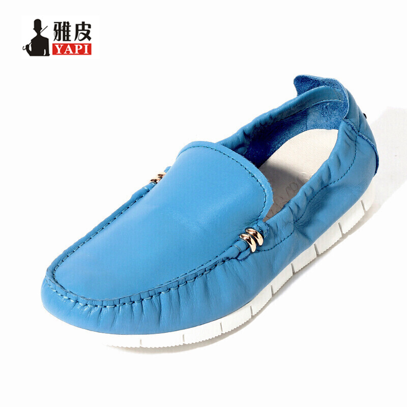 US 6-10 Summer Mens Genuine Leather Shoes Pig Leather Slip On Loafer Driving Car Shoes Moccasin Casual Men Shoes 2 colors us size 6 10 slip on leather casual men driving loafer moccasin summer sandals shoes