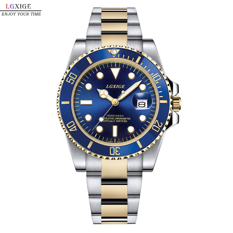 Hot men watch 2018 luxury brand full Steel quatz watch Rotatable Bezel sport gmt top male army watch diver Luminous men clockHot men watch 2018 luxury brand full Steel quatz watch Rotatable Bezel sport gmt top male army watch diver Luminous men clock
