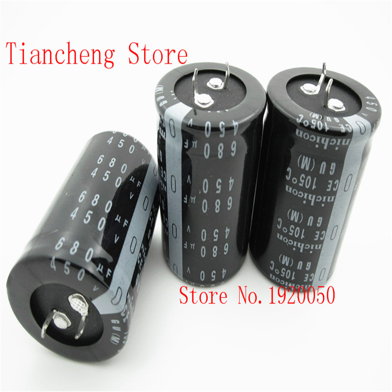 stock hard feet electrolytic capacitor 450v680uf 680uf450v volume 35x50