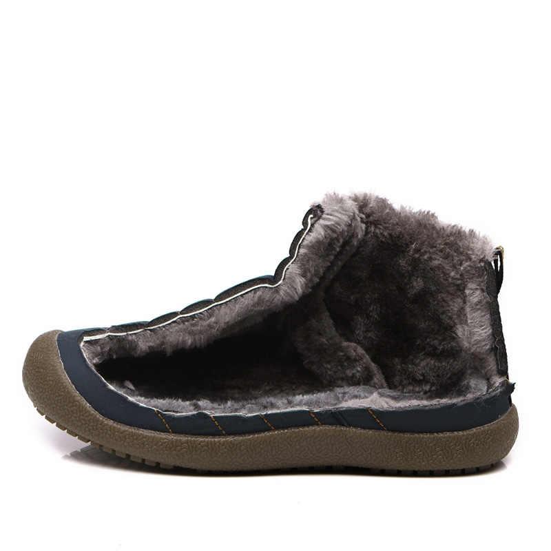 STQ 2020 kış kadın kar botları orta buzağı yarım çizmeler kadınlar üzerinde kayma su geçirmez kauçuk botları sıcak kürk peluş yağmur çizmeleri 6811