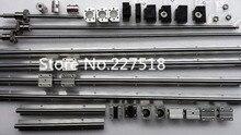 6 sets SBR16 linear rail L300/1000/1300mm + SFU1605-300/1000/1300mm tornillo de la bola 3 BK12/BF12 3 DSG16H tuerca + 3 Acoplador para cnc