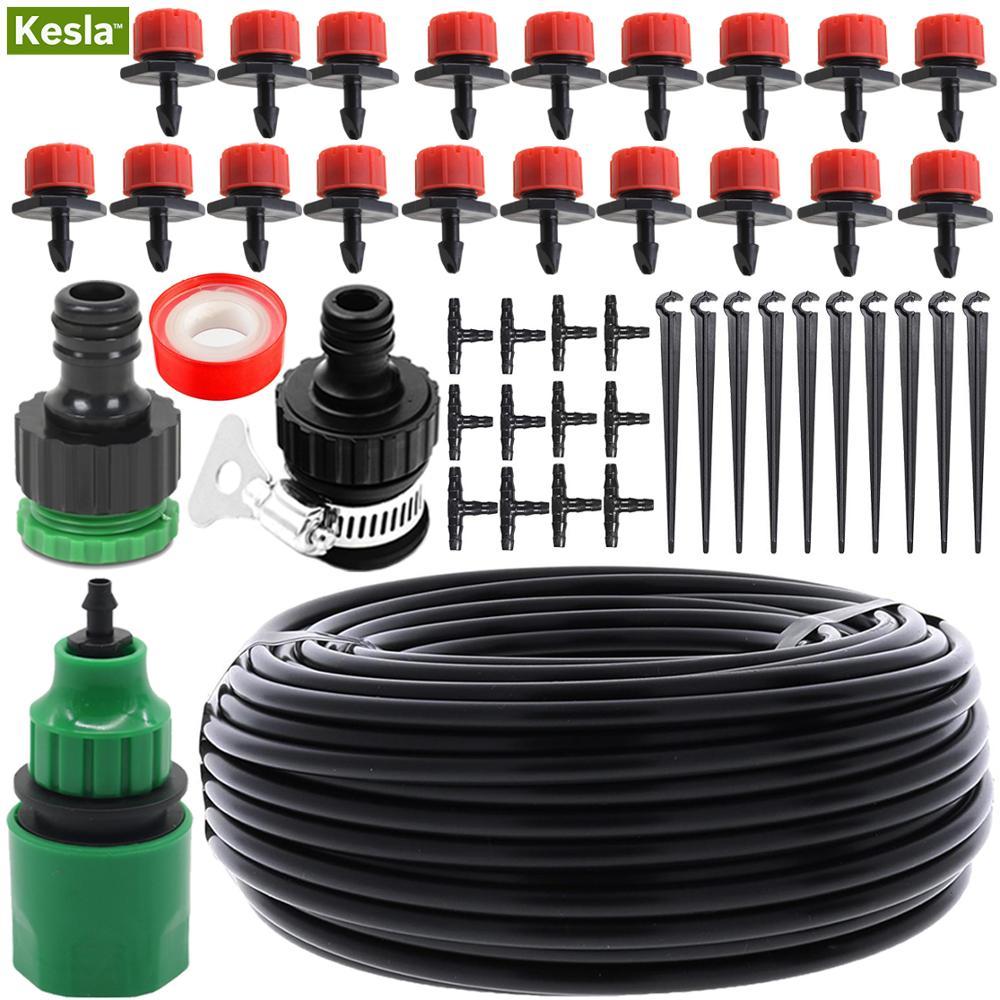 Kesla 5 M-25 M Automatische Micro Drip Irrigatie Tuinslang Watering Systeem Kits & Verstelbare Nozzle Mister Druppelaar kas Gazon