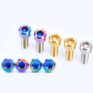 Image 3 - 6PCS M5x16mm Titanium Stem Fixing Bolts For Bike MTB Bicycle Stem Screws Fixed Bolts Bike Cycling Parts 3 Colors