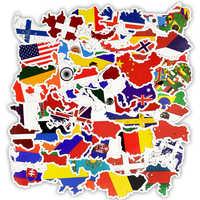 25 50 PCS Aufkleber Ländern Nationalen Flagge Aufkleber Spielzeug für Kinder Fußball Fußball Fans Aufkleber Scrapbooking Reise fall Laptop