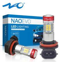 NAO 2x h11 led auto fog light hb4 led lamp for passat b6 auto 12V H16 H9 hb3 led bulb Automobiles DRL H10 9006 car light 9005