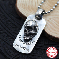 S925 sterling silver couple pendants personalized classic retro fashion style skull pendant modeling send lover jewelry gift