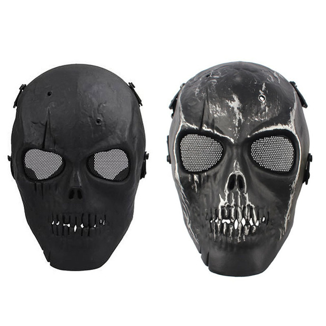 Schädel Skeleton Maske Vollmaske Airsoft Paintball Schützen Maske halloween Maskerade CS Wargame Cosplay Film Prop maske