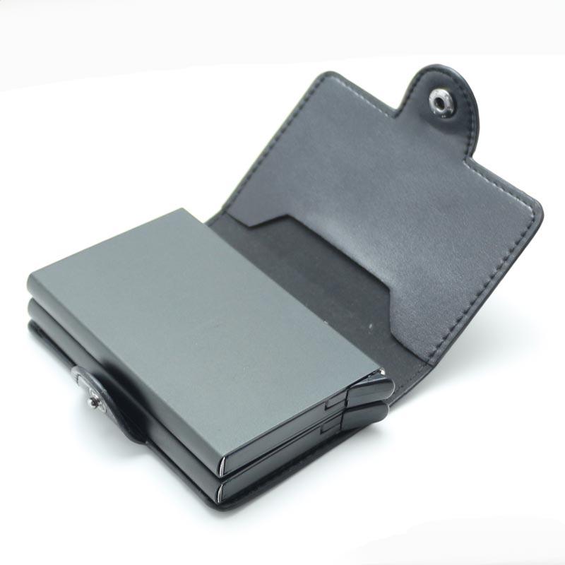 Muticolors Aluminum Double Slide Business ID Card Holders Wallet ...