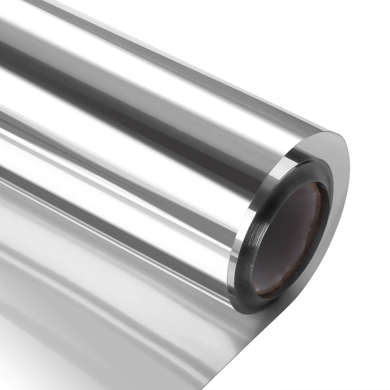 one way silver window film anti uv static cling decorative. Black Bedroom Furniture Sets. Home Design Ideas