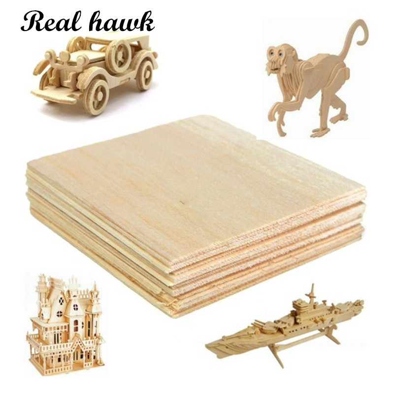 AAA+ Balsa Wood Sheet ply 5 Sheets 100x100x1.5mm Model Balsa Wood Can be Used for Military Models etc Smooth DIY free shipping aaa balsa wood sheet balsa plywood 500mmx130mmx2 3 4 5 6 8mm 5 pcs lot super quality for airplane boat diy free shipping