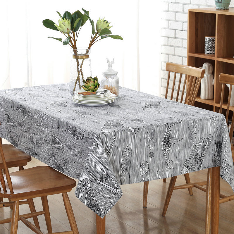 Retro Linen Cotton Tablecloth Washable Coffee Dinner Retro Wood Grain LOVRTRAVEL Table Cloth For Christmas Wedding Banquet
