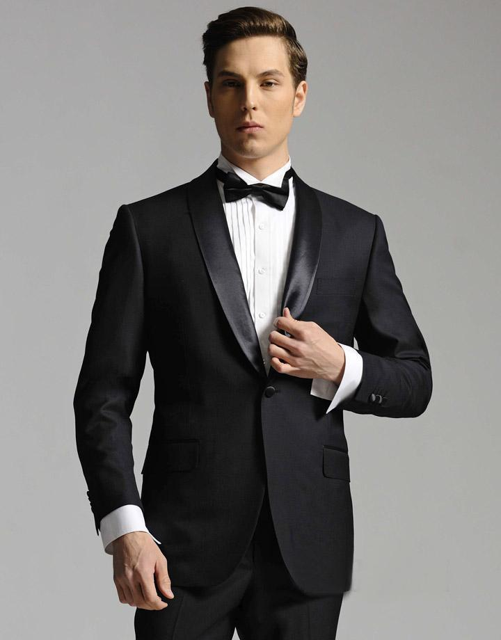 Slim Fit 2015 Groom Tuxedos Business Best Man Suit Formal Wedding ...