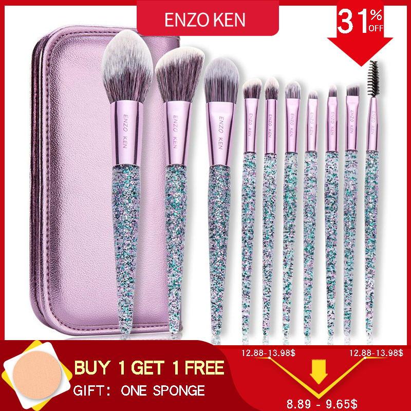 Lila Make-Up Pinsel ENZO KEN (Tropfen Verschiffen) 10 Pcs Foundation Erröten Pinsel Pulver Blending Lidschatten Make-up Pinsel Set