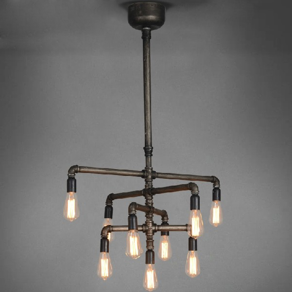 Industrial Lights For Shop: American Industrial Pipe Pendant Lights Fixure Restaurant