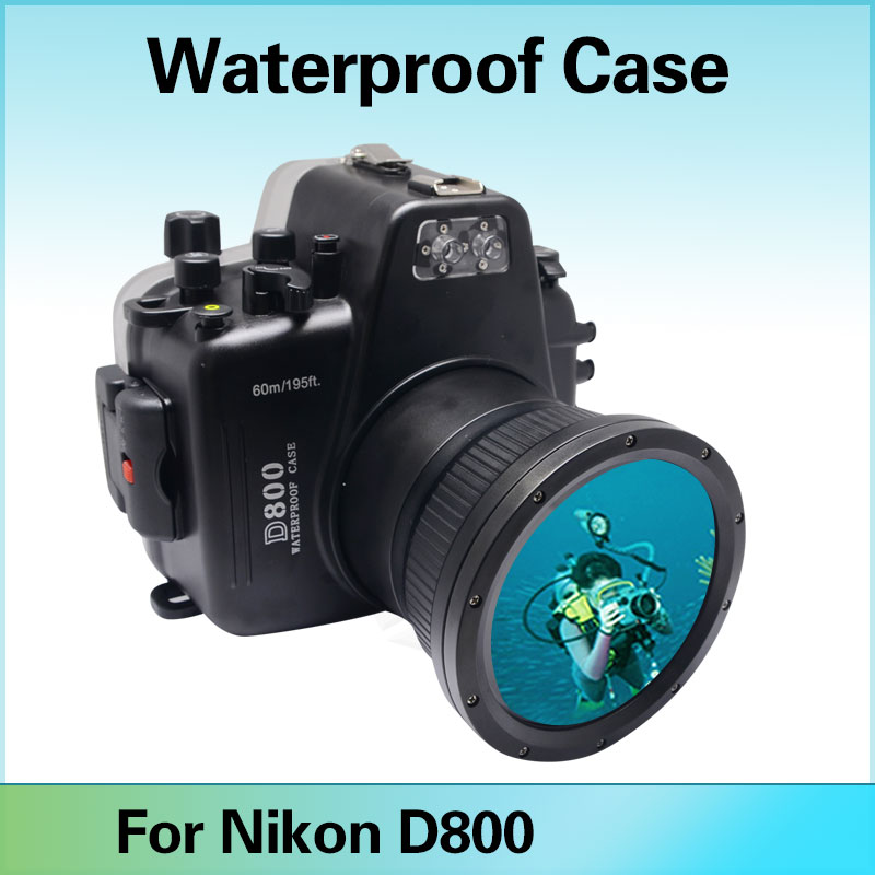 где купить Mcoplus 60M/195ft Camera Underwater Housing Waterproof Case For Nikon D800 with Inbuilt Leak Detection Alarm Buzzer Sensor дешево