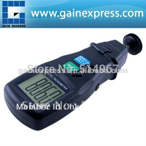 Portable Digital 2 in 1 LASER Sensor Photo & Contact Tachometer Tach  99,999 RPM Range laser type tachometer portable digital tachometer