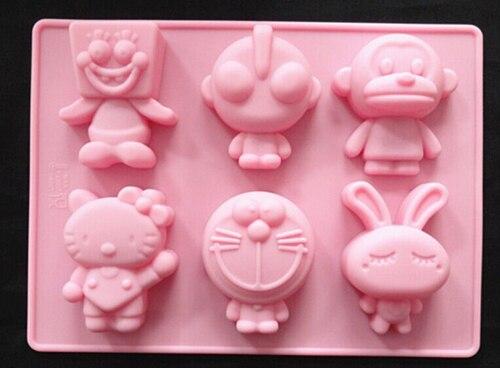 Cartoon Jelly Cake Recipe: New Silicone Cartoon Characters Cake Mold Soap Shaping