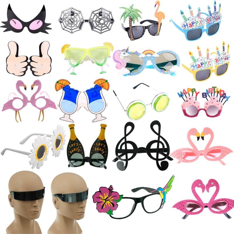 Pink Cartoon Flamingo Glasses Hawaii Beach Party Sunglasses Party Prom Decor