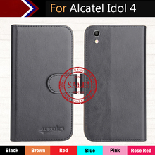Hot!! In Stock For Alcatel Idol 4 Case 6 Colors Dedicated Leather Exclusive For Alcatel Idol 4 Phone Cover+Tracking alcatel idol 4 6055k золотой