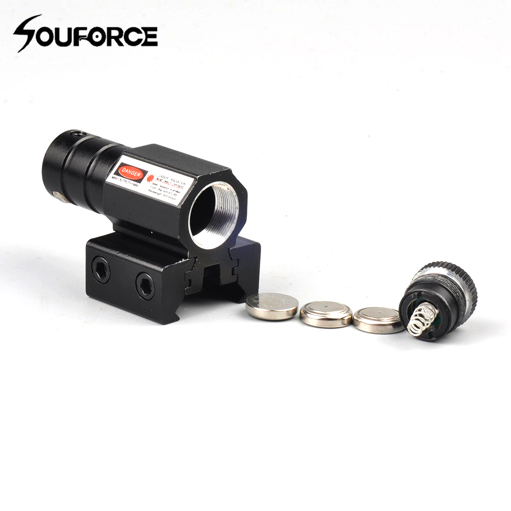 1pc Tactical Red laser Pointer Sight with Laser Wavelength 835-655mm Gun Rifle Pistol Sight Adjustable 11mm 20mm Picatinny Rail