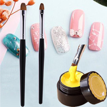 2pcs/set Kolinsky Sable Hair Nail Art Painting Stripe Lines Brush Pen Multi-color Pull Wire Painted Tools