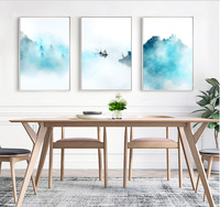 Background Wall Decoration Painting Chinese Wind Painting Jiangnan Ink Painting Landscape Painting With No Frame