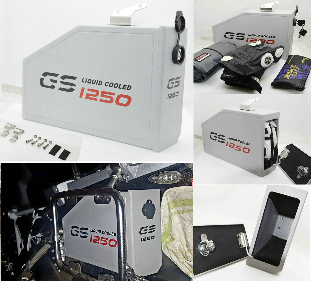 For BMW R1250GS tool box 2018-ON decorative Aluminum tool box 5 L R1250GS Adventure 2018-ON for BMW side box brackFor BMW R1250GS tool box 2018-ON decorative Aluminum tool box 5 L R1250GS Adventure 2018-ON for BMW side box brack