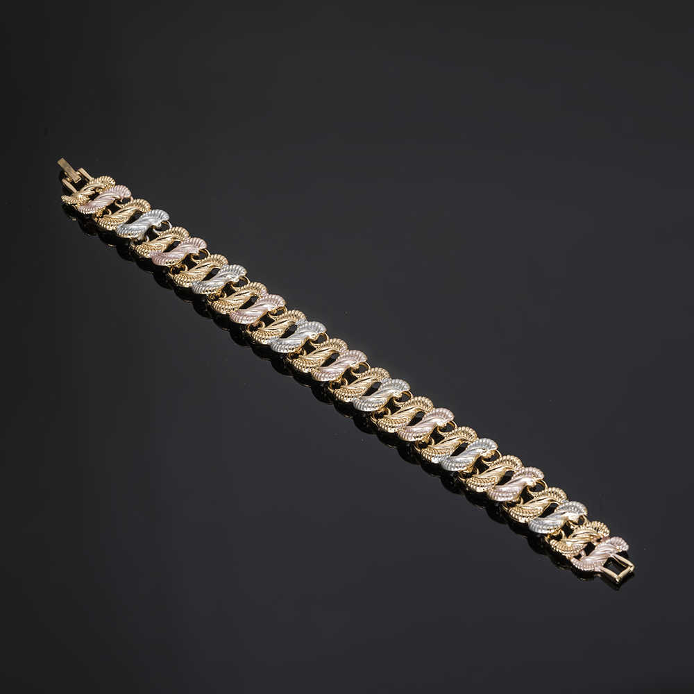 MUKUN Ювелирные наборы для женщин Изысканный Дубай Золотой-красочный ювелирный набор нигерийские женские Свадебные африканские бусины комплект ювелирных изделий