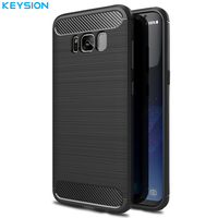 Cover For Galaxy S7 Edge SM G935 Phone Cases Shell Carbon Fibre Brushed TPU Case For