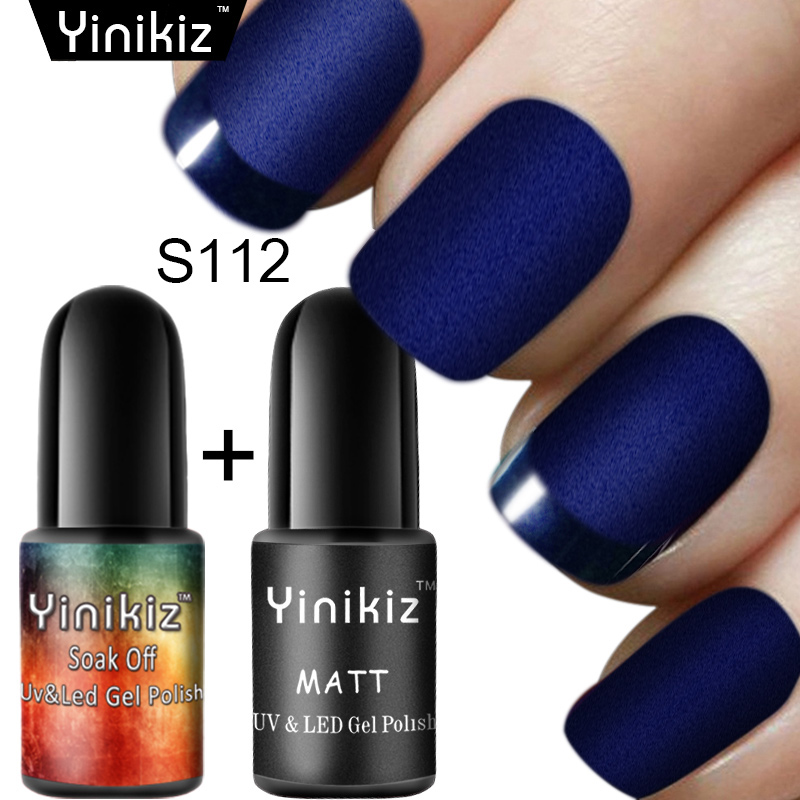 Yinikiz 2 Pcs 19 Colors Matte Top Gel Lacquer Dull Frosted Nail Art ...
