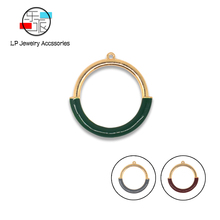 Enamel round Charm Connectors For earrings necklaces Accessories DIY Jewelry Making Trendy Handmade Jewelry findings 10 Pcs/lot new 50pcs lot gold silver color water drop shaped copper accessories connectors for diy handmade jewelry earring making findings