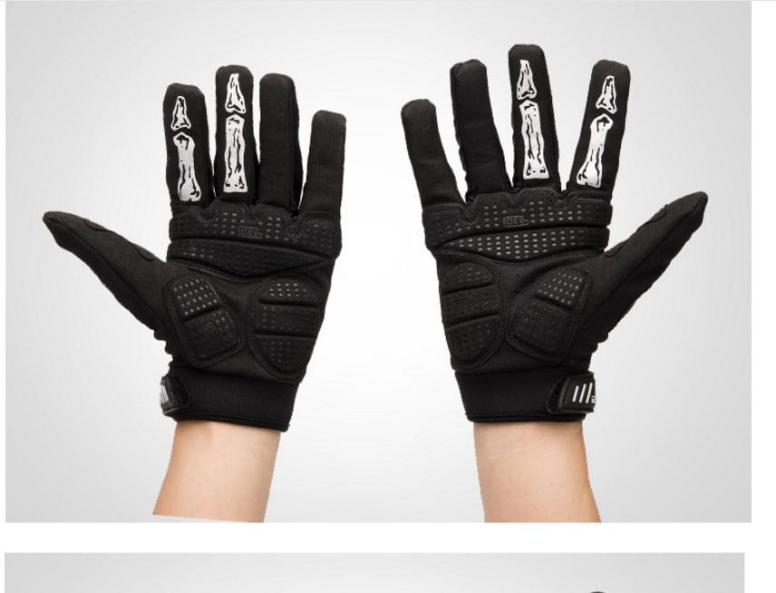 Yeni siyah Kafatası Pençe Eldiven Yarış Motosiklet Kemik İskelet - Spor Giyim ve Aksesuar - Fotoğraf 2